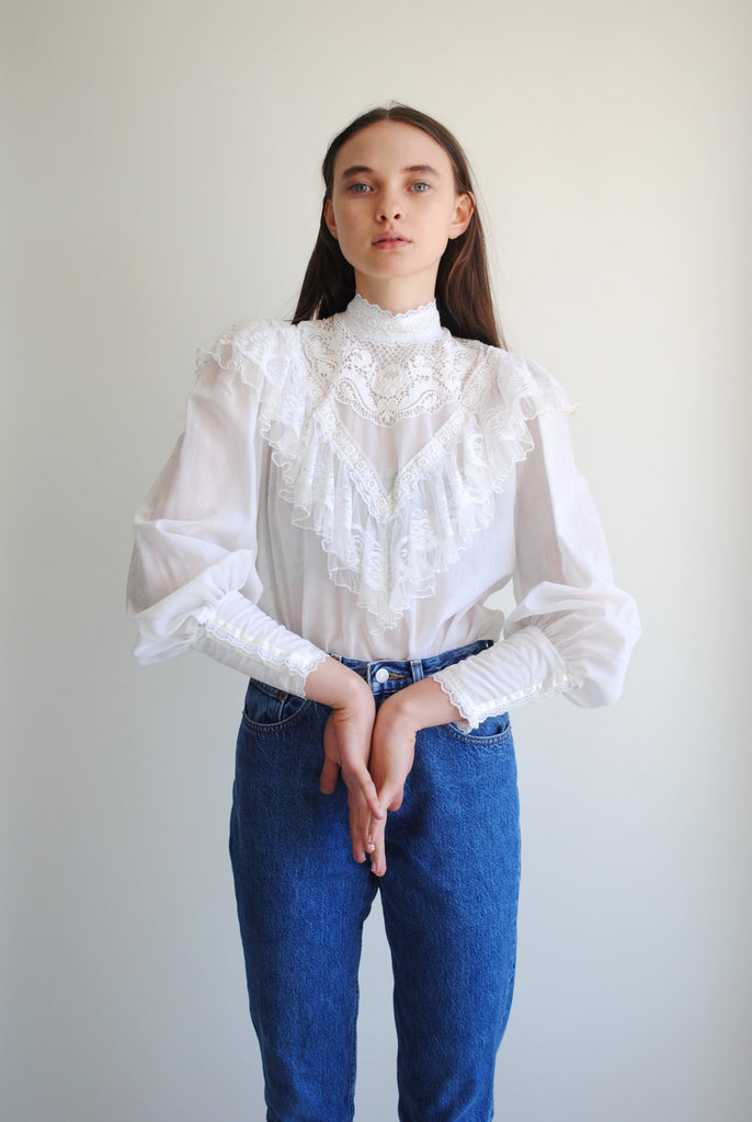 White Collared Blouse