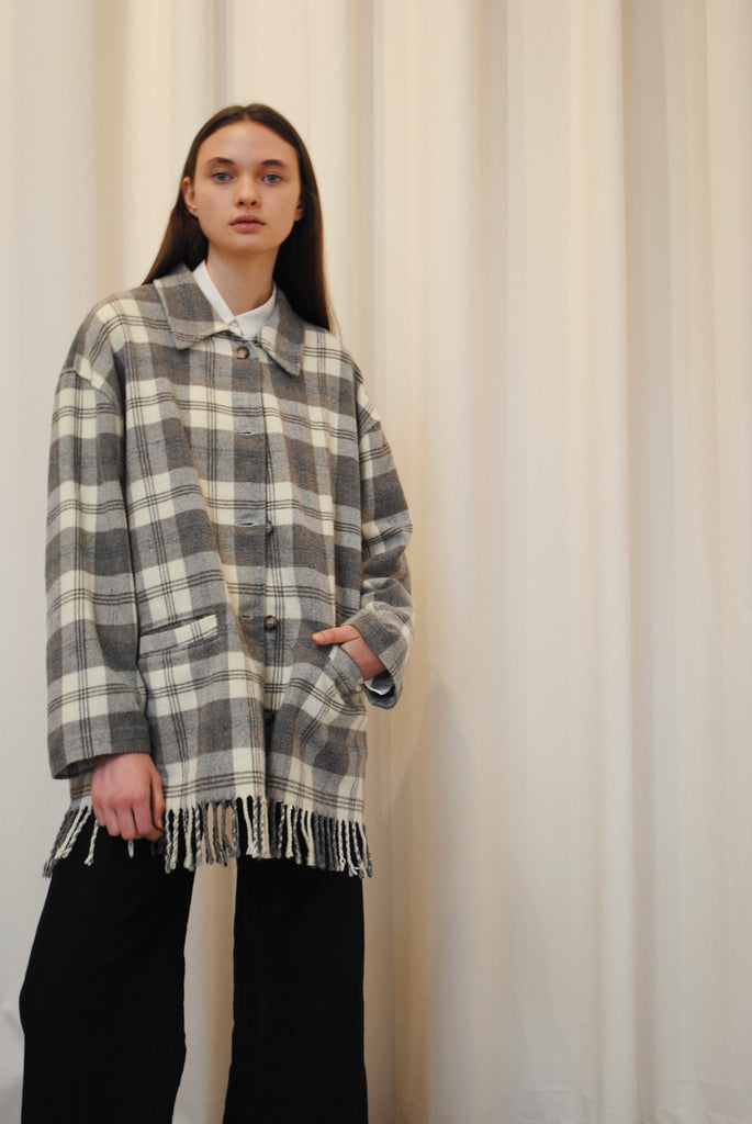 Checkered Flannel Coat