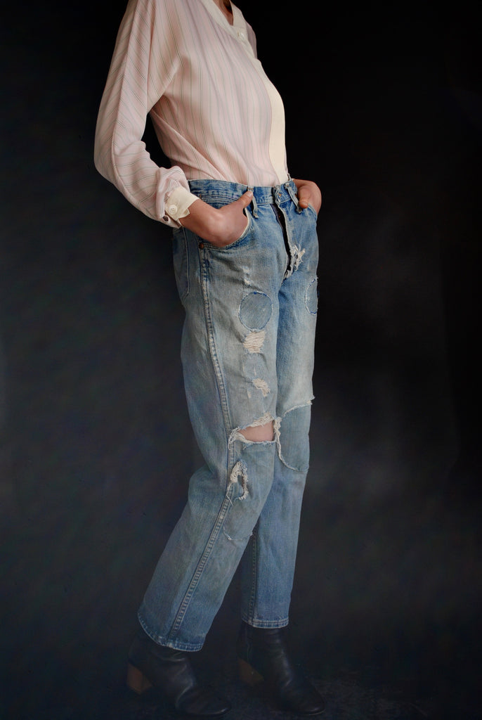 1950's Distressed and Patched Denim