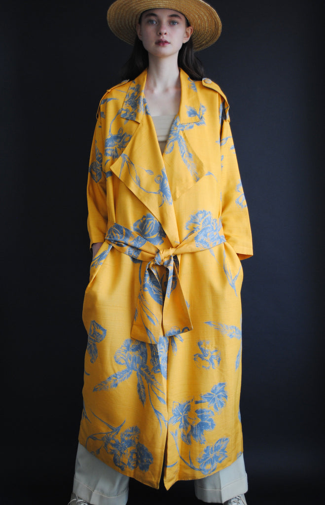 Silk Printed Trench