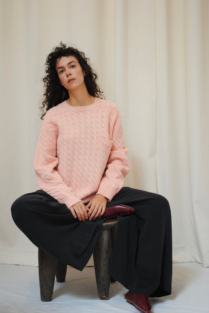 Blush Pink Cashmere Sweater