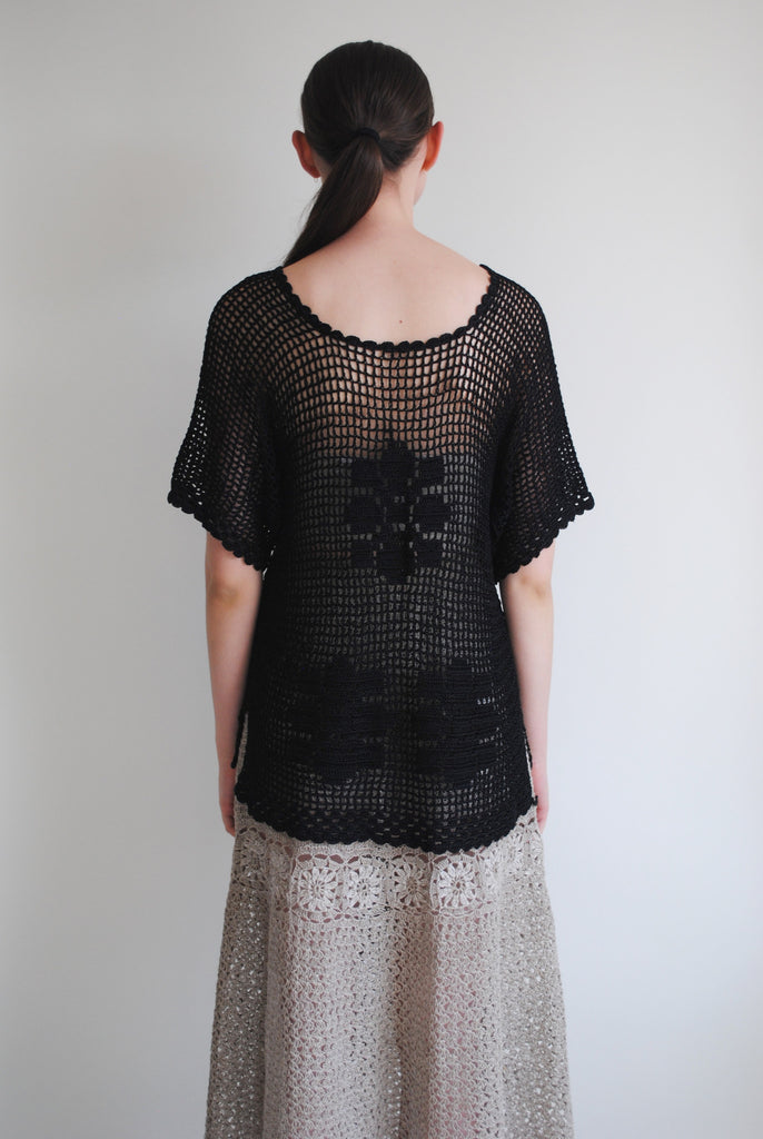1930's Crochet Silk Blouse