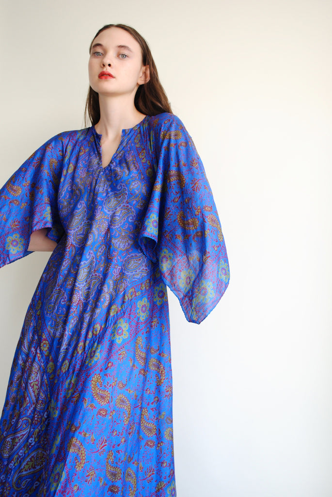 Silk India Block Print Dress