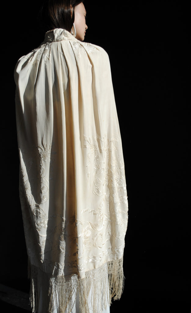 1920s Embroidered Cape
