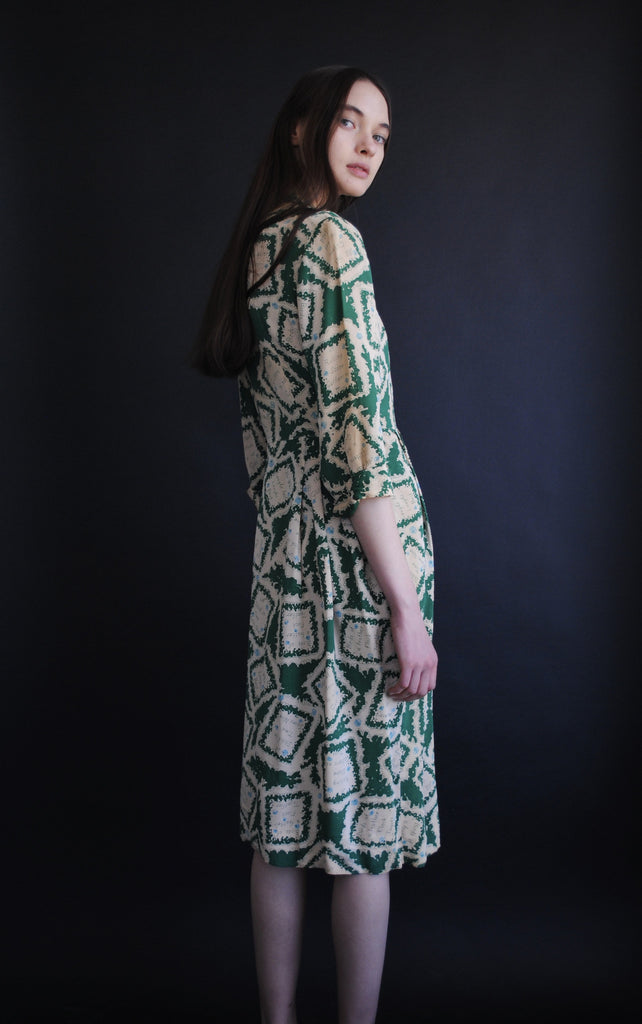 1940's Printed Day Dress