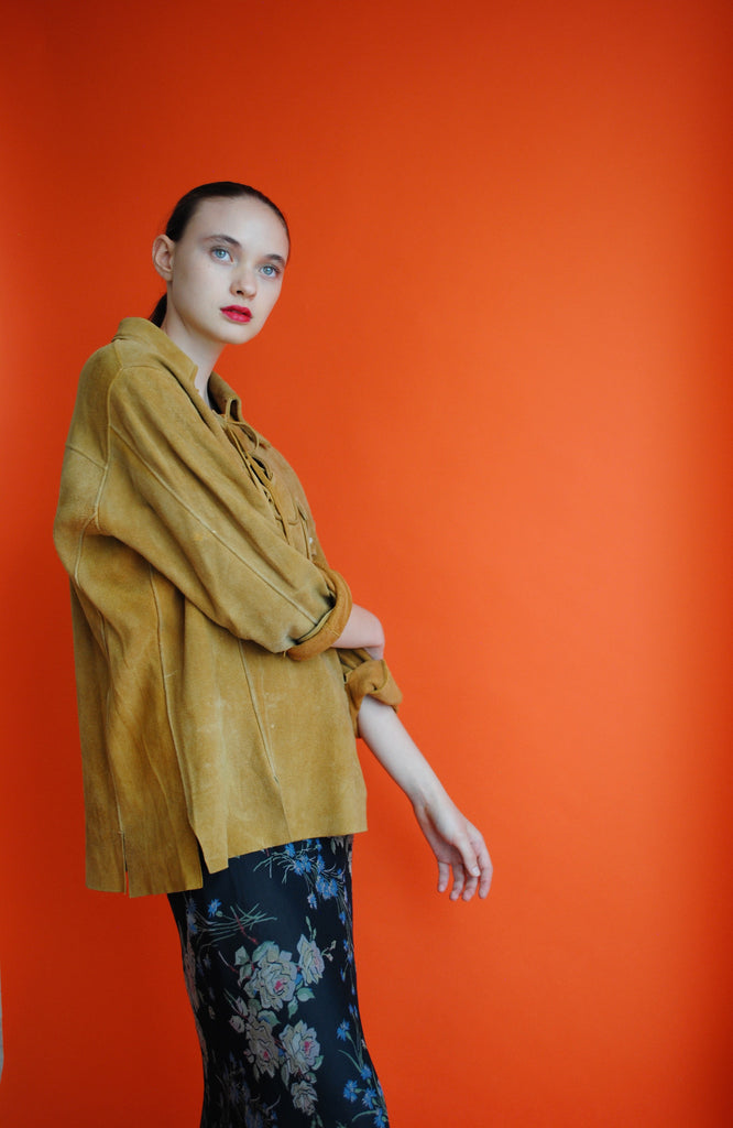 1940's Suede Pull Over