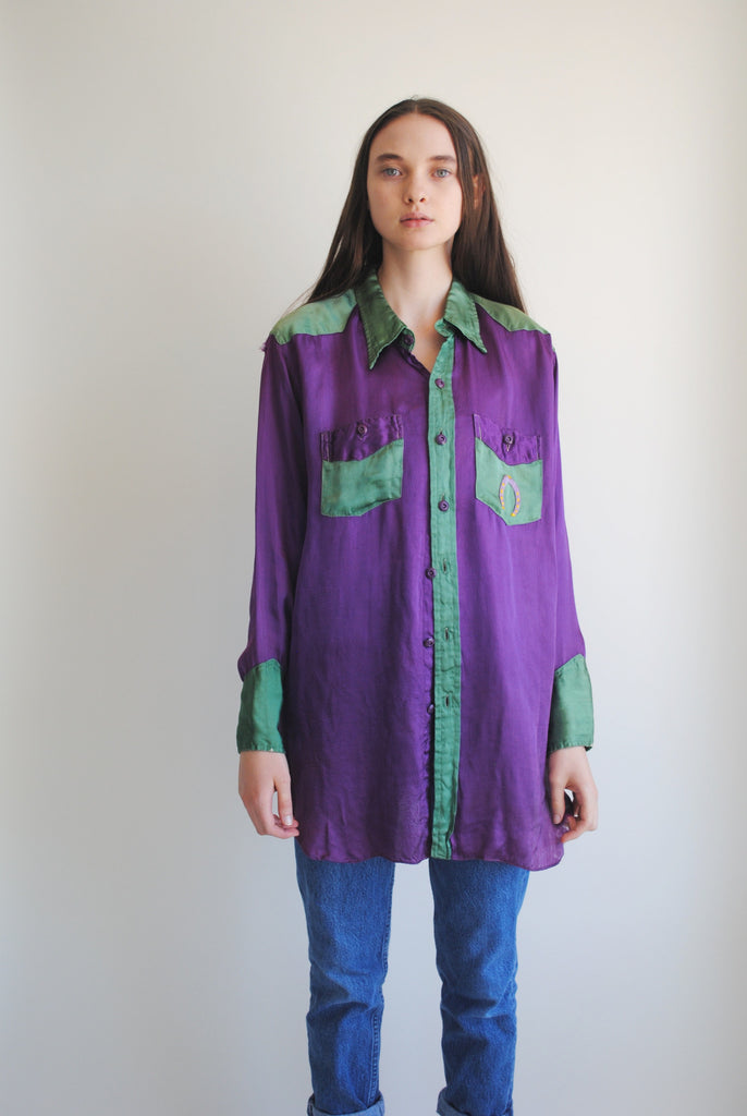 1940's Two Tone Silk Shirt