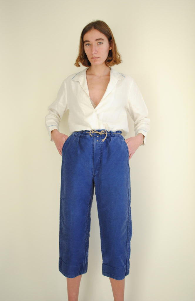 Vintage Blue Work Trousers