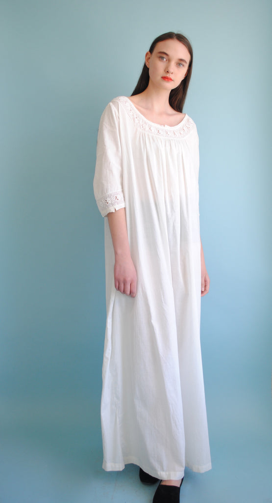 White Cotton Summer Dress