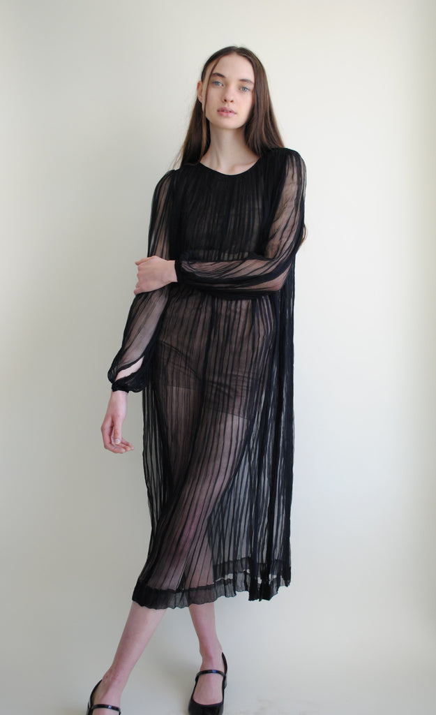 1920's Sheer Striped Dress