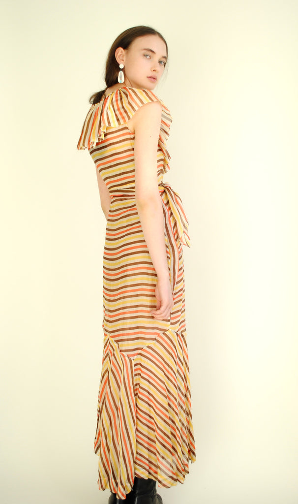 1930's Striped Gown