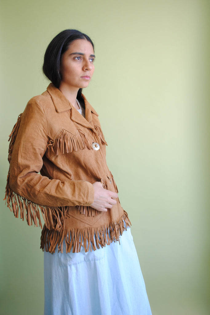 1940's Leather Fringe Jacket