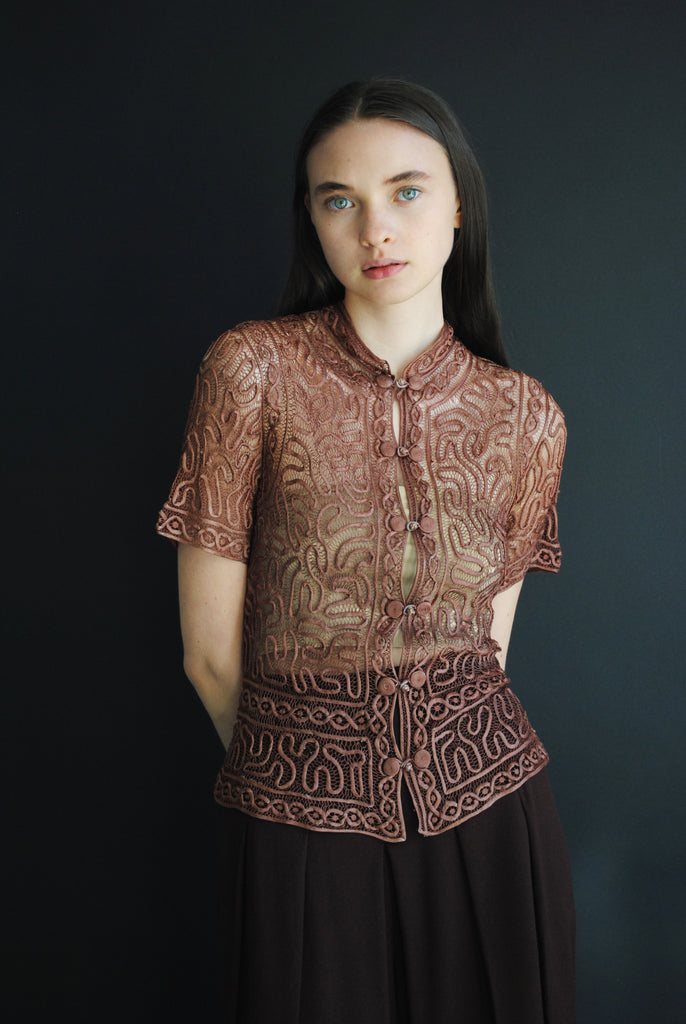 1940's Soutache Blouse