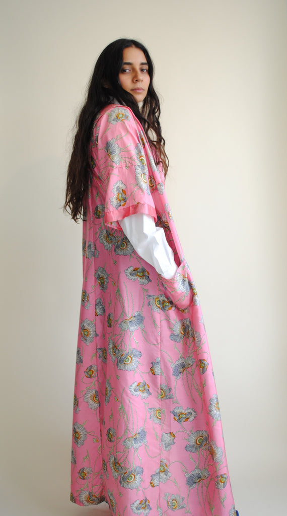 Antique Poppy Print Duster