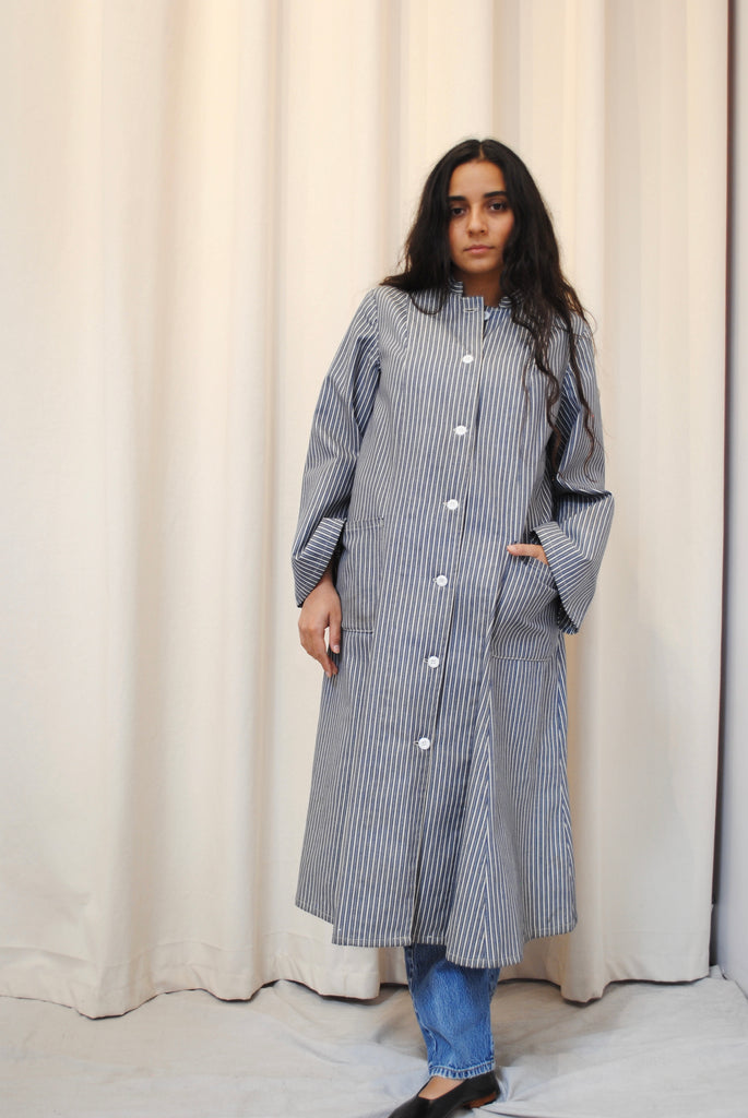 Chambray Striped Duster