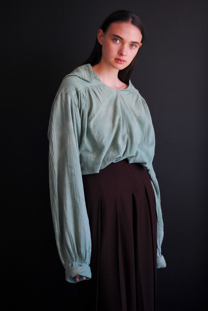 1940's Cotton Gauze Peasant Blouse
