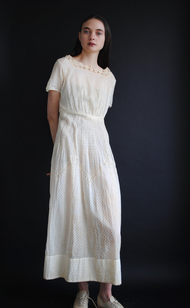 Swiss Cotton Antique Dress
