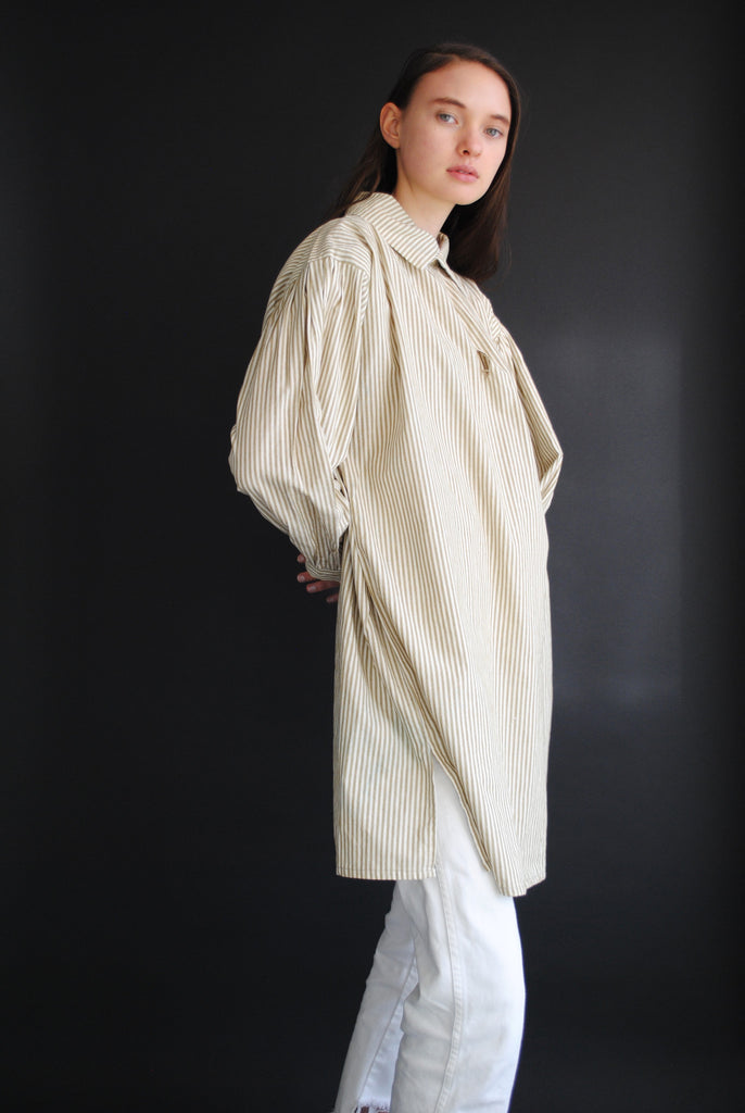 Antique Striped Poet Blouse