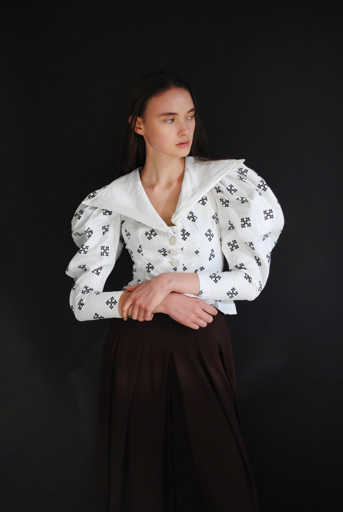 Victorian Print Blouse