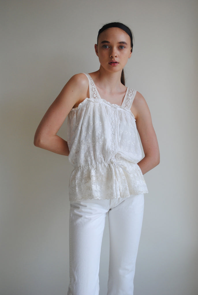 Cotton Eyelet Blouse