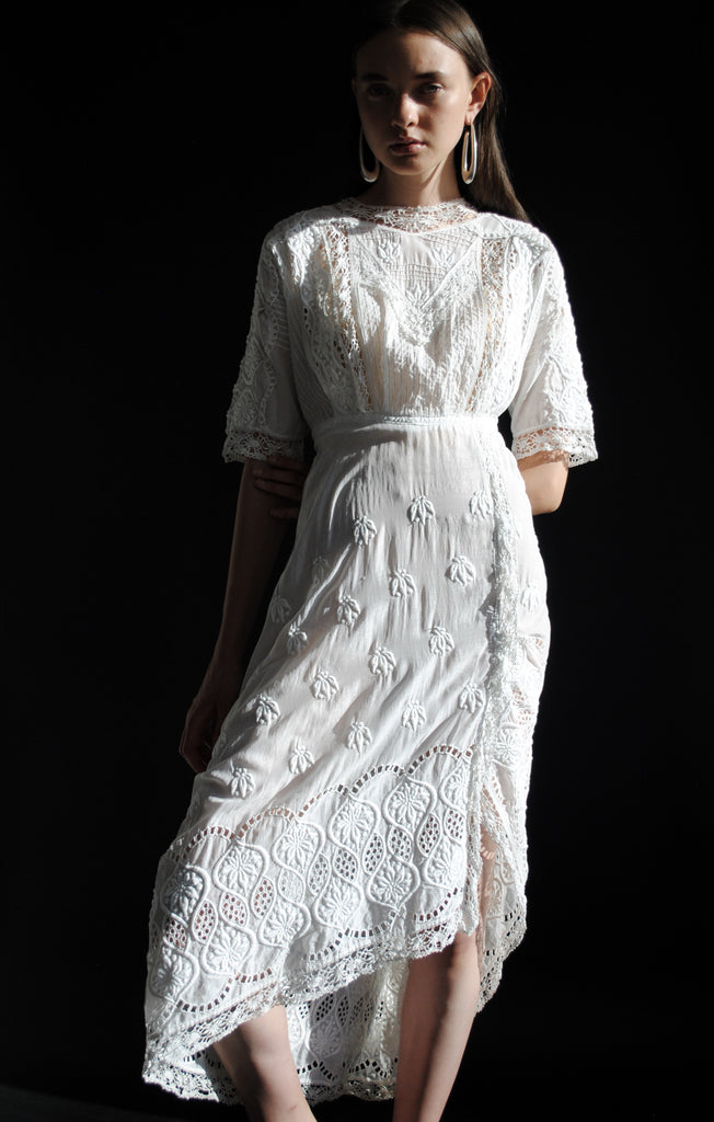 Embroidered Edwardian Dress