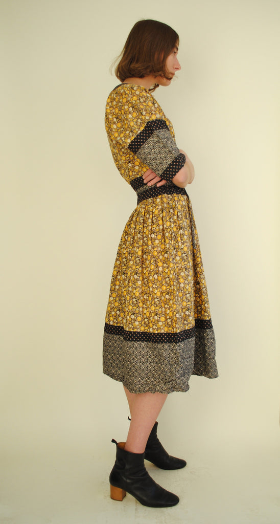Vintage Printed Day Dress