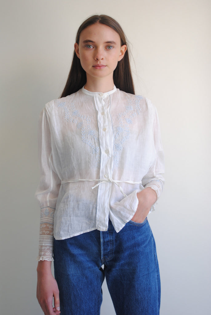 Antique Linen Blouse