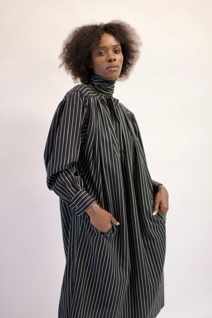 Vintage Kenzo Striped Winter Dress