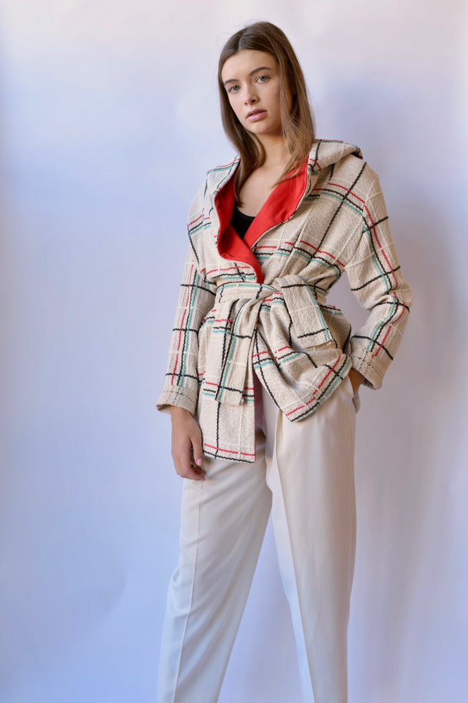 Checkered Cotton Jacket