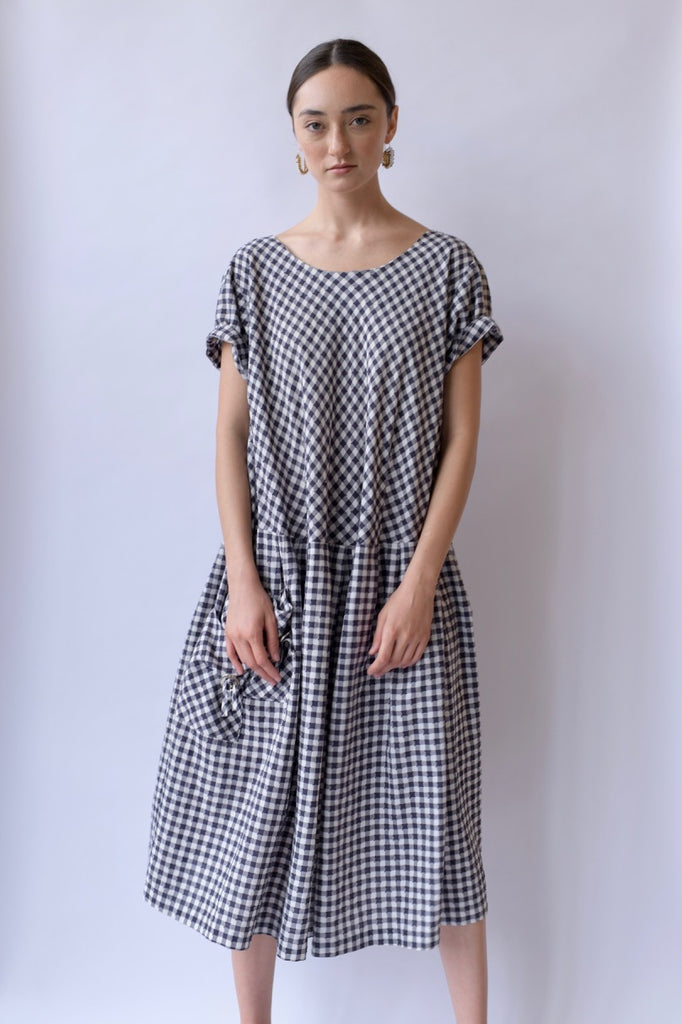 Vintage Checkered Cotton Dress
