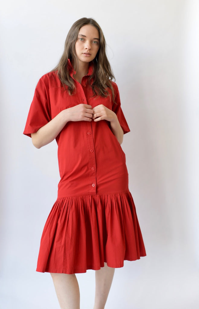 Vintage Norma Kamali Pleated Dress
