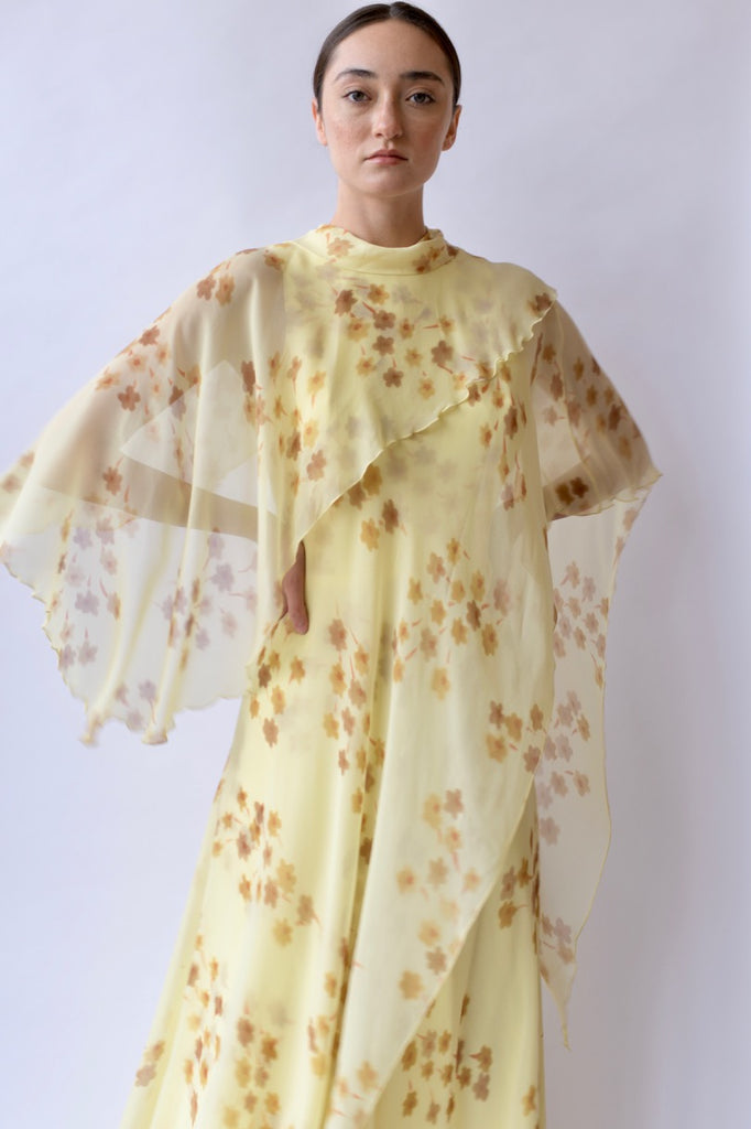 1930s Column Chiffon Dress