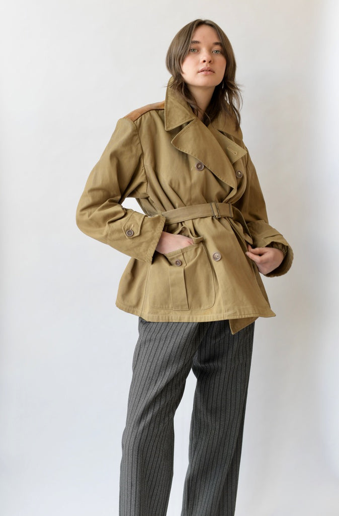 1940s Canvas Peacoat
