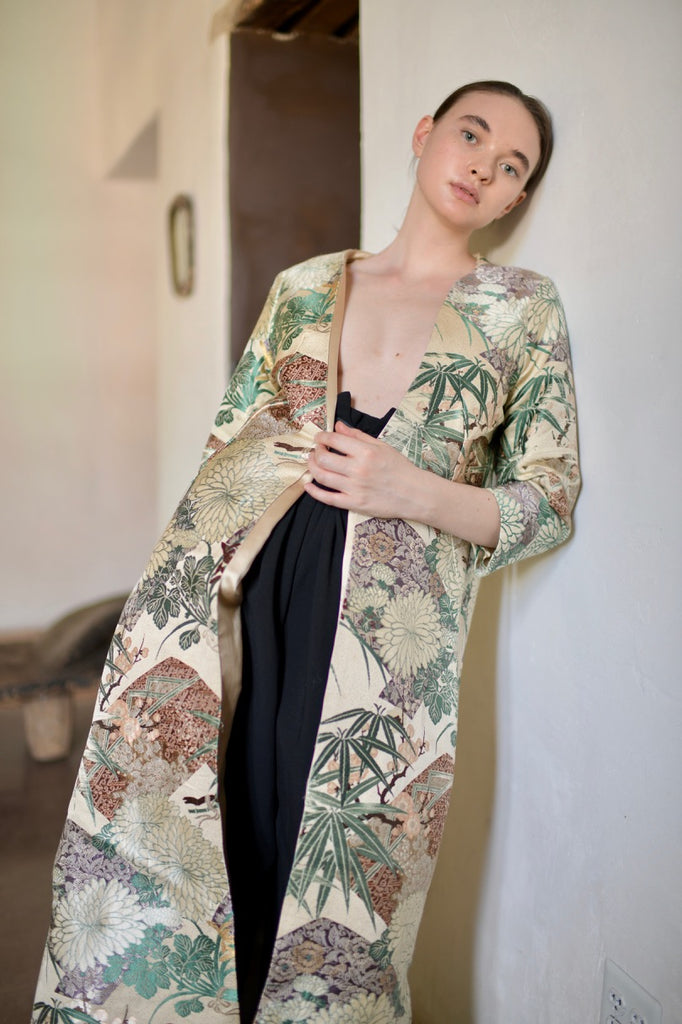 1960s Silk Brocade Coat