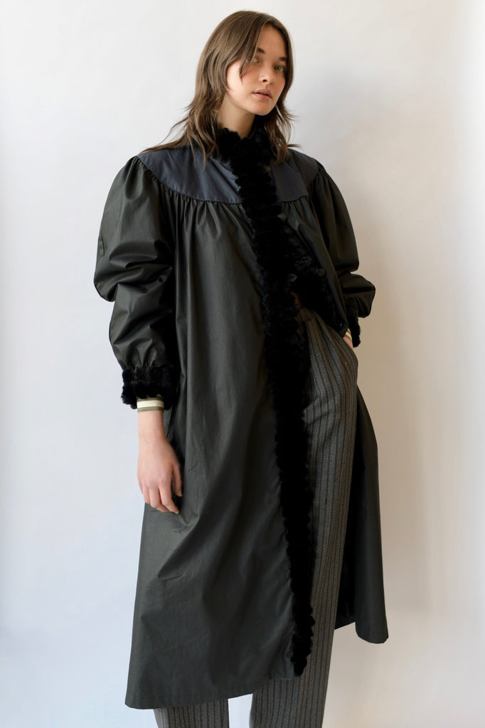 Mink Trimmed Coat
