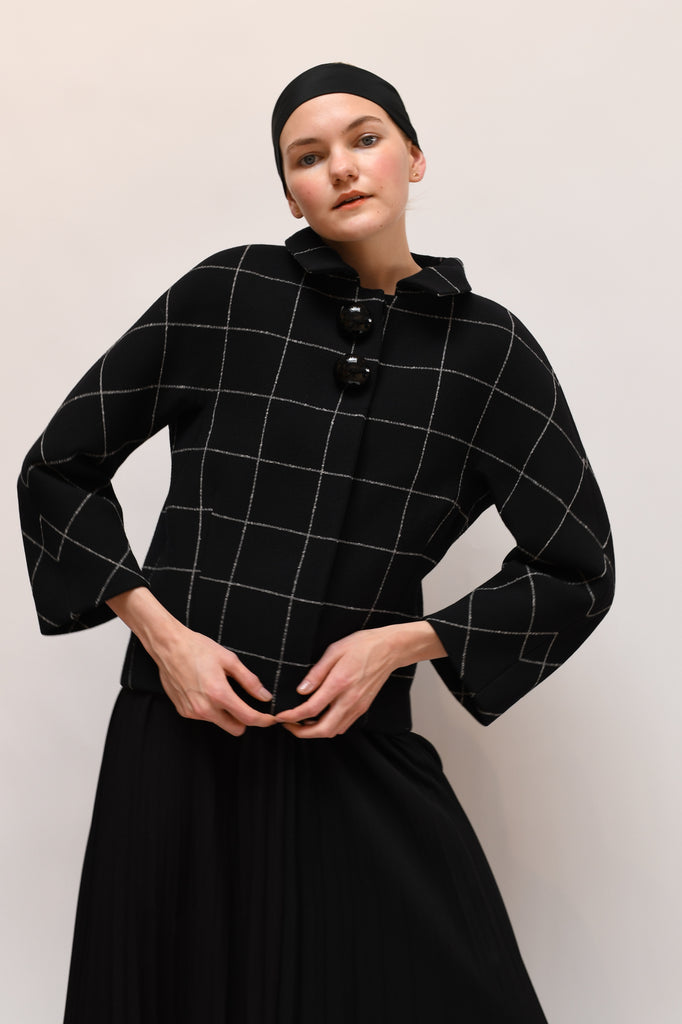 Balenciaga Structured Grid Jacket