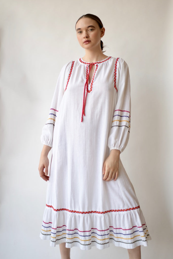 1970's Cotton Gauze Dress