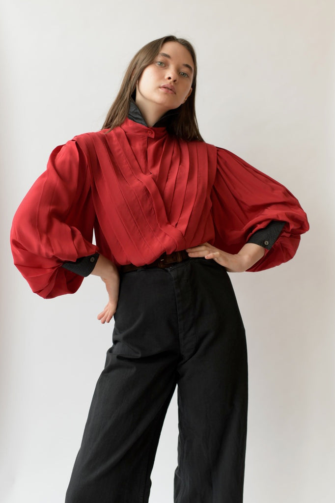 Vintage Pleated Ferré Blouse