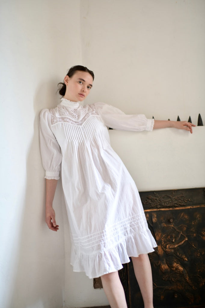Vintage Eyelet Cotton Dress