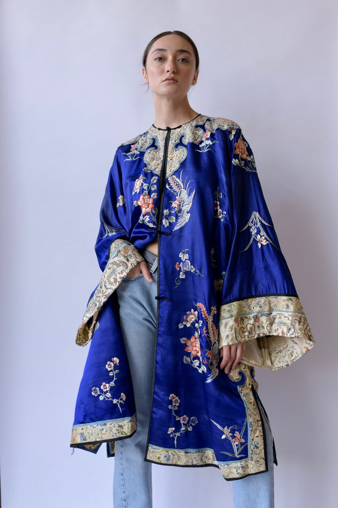 Turn Of The Century Embroidered Silk Jacket