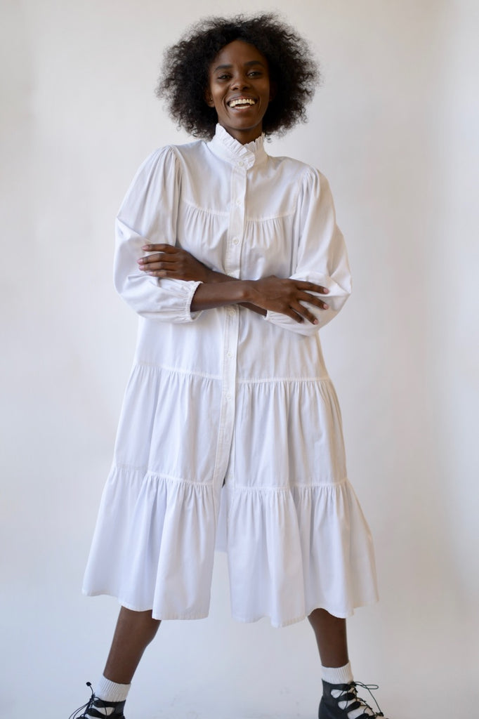 Vintage Cotton Smock Dress