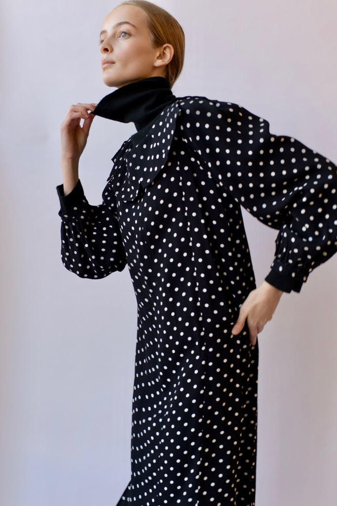 Vintage YSL Dotted Dress