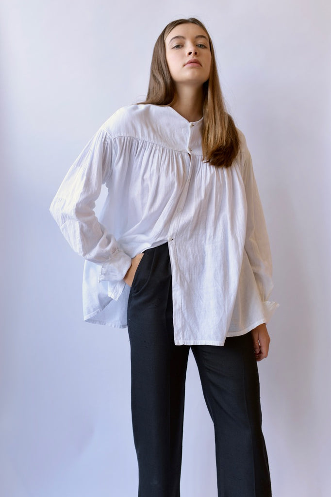 Antique White Smock Blouse