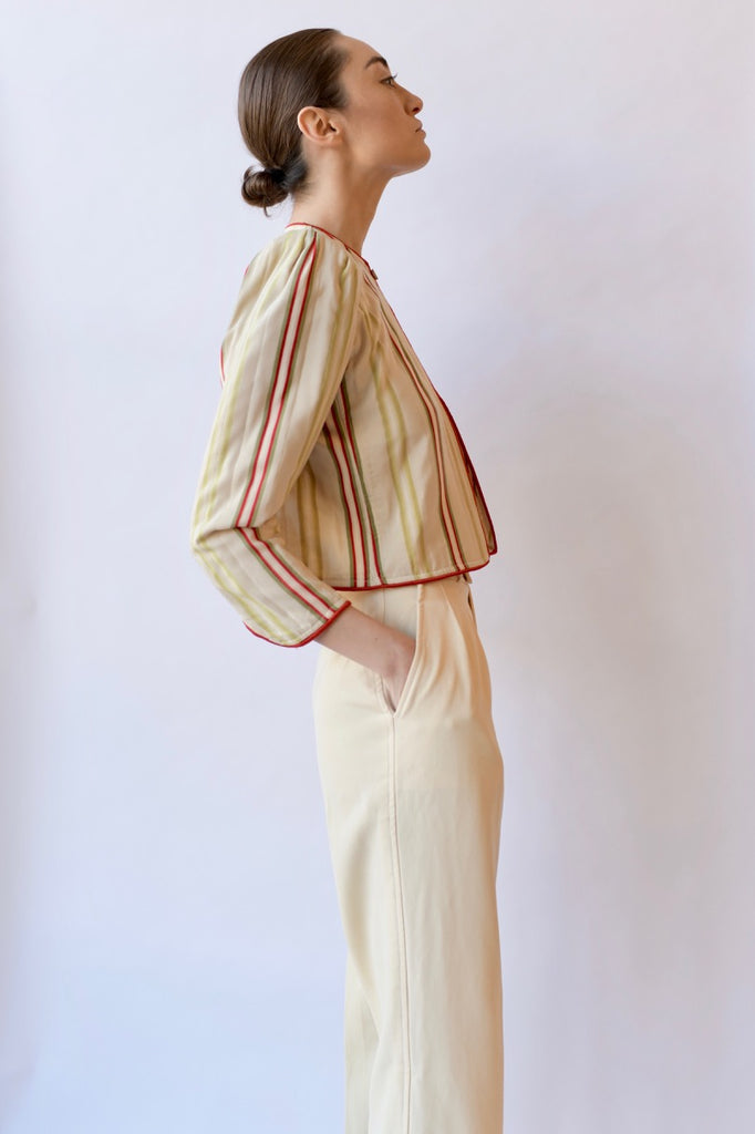 Vintage Ungaro Silk Striped Jacket
