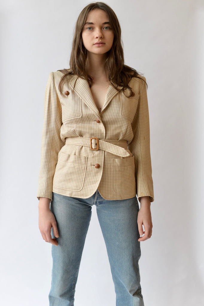 Vintage Yves Saint Laurent Belted Jacket