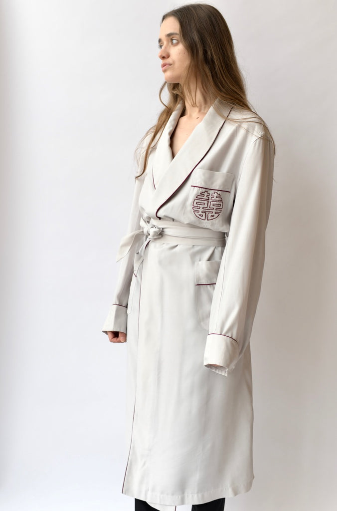1940s Embroidered Robe