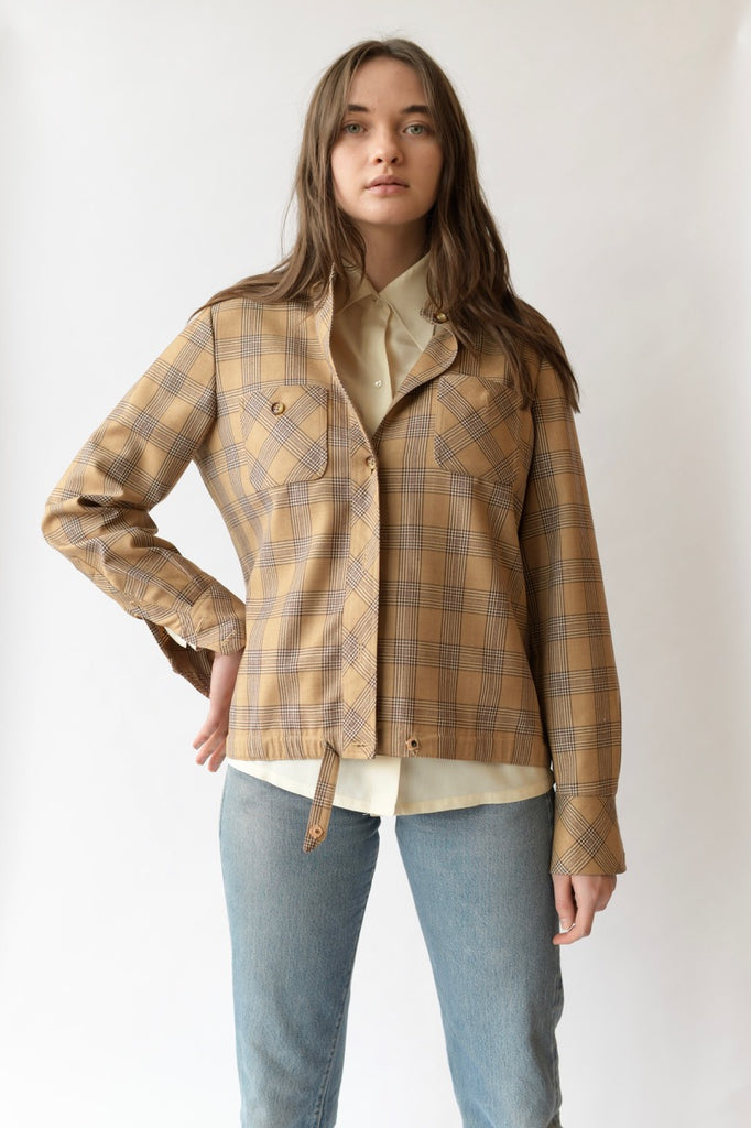 1950s Tweed print Jacket