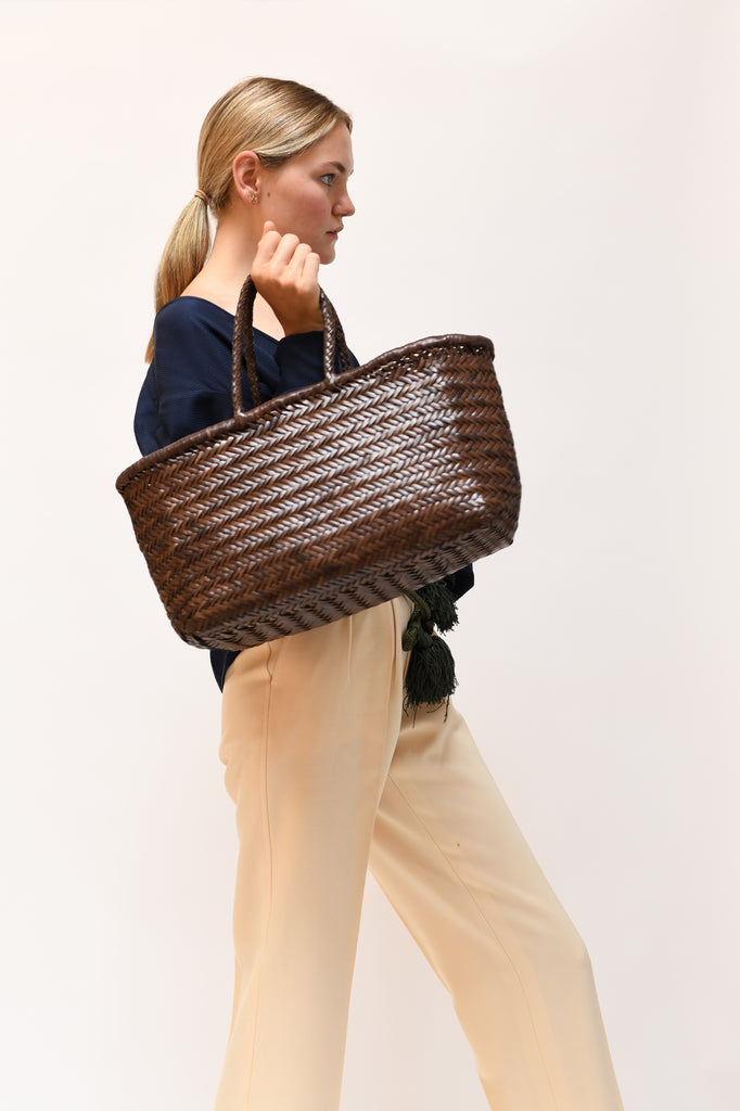 Bamboo Triple Jump Big Basket Bag