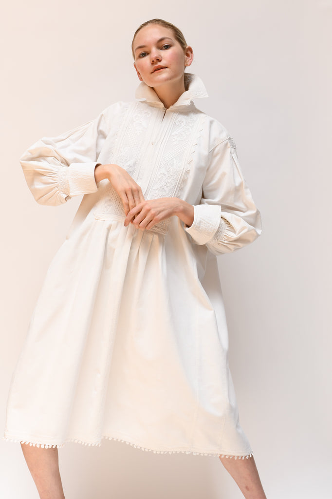 1930s Cotton Folk Dress