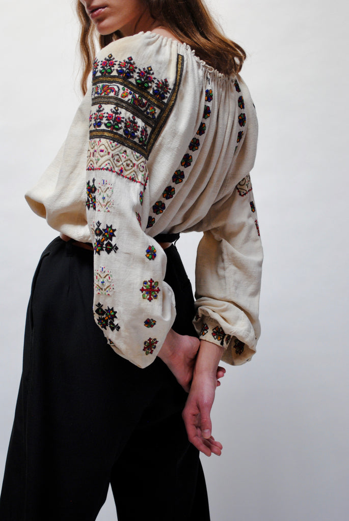 Antique Embroidered Blouse